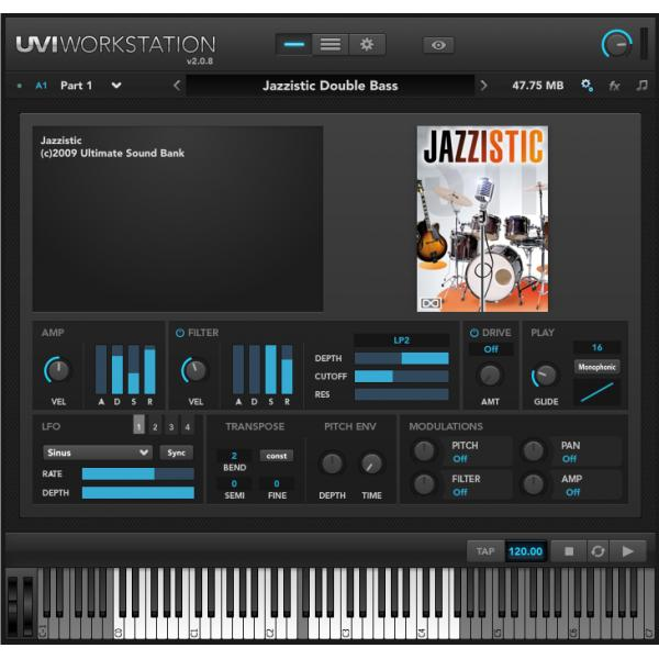 ソフトウェア音源 当店は最高な サービスを提供します UVI Jazzistic 超定番 オンライン納品専用 後払い決済はご利用頂けません ※代金引換