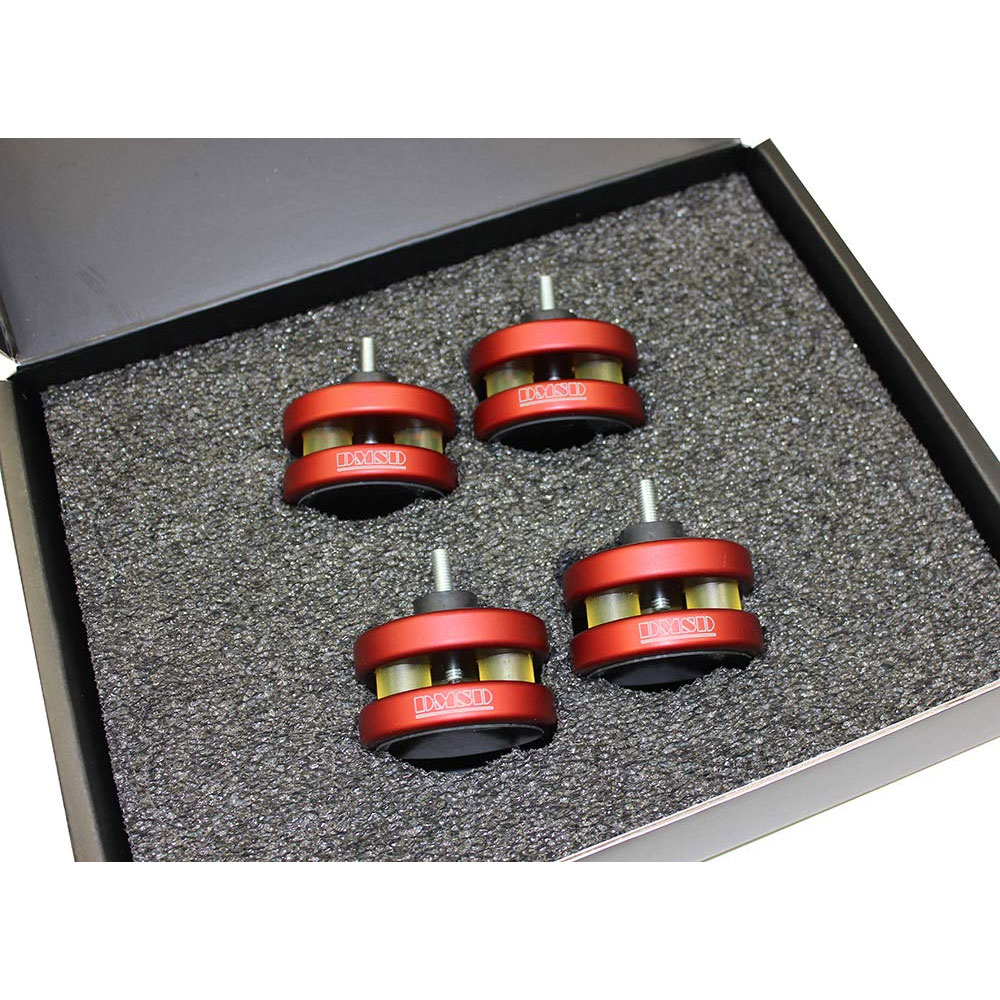 DMSD Decoupling Feet For Turntables 【レッド】 4個1組×2 (ターンテーブル / レコードプレーヤー用インシュレーター)