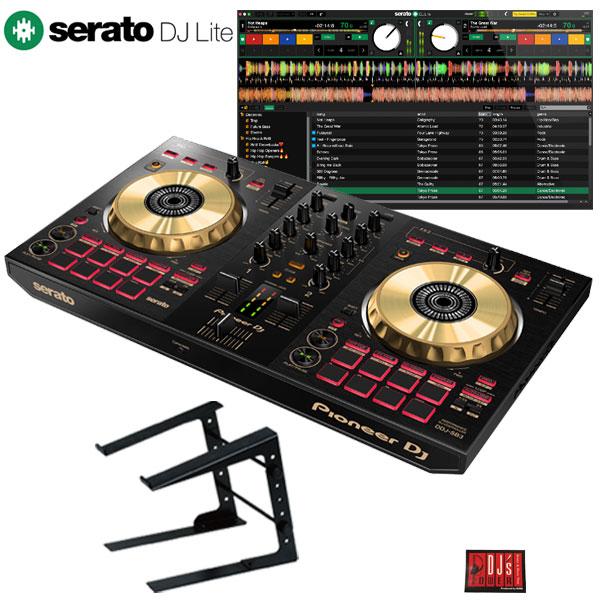 Pioneer DJ DDJ-SB3-N + PCスタンドセット 【Serato DJ Lite対応DJコントローラー台数限定モデル】