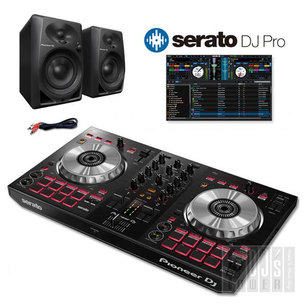 Pioneer DJ DDJ-SB3 + DM-40 + Serato DJ Proライセンス セット