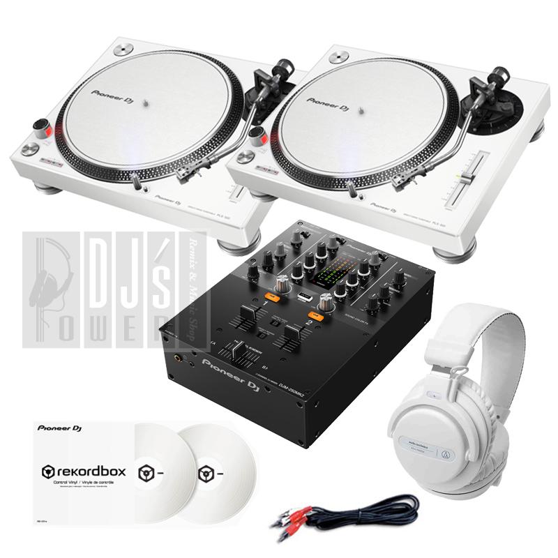 DVS初心者向けターンテーブルDJセット Pioneer DJ PLX-500-W 国内在庫 DVS入門ホワイトSET + DJM-250MK2 数量は多