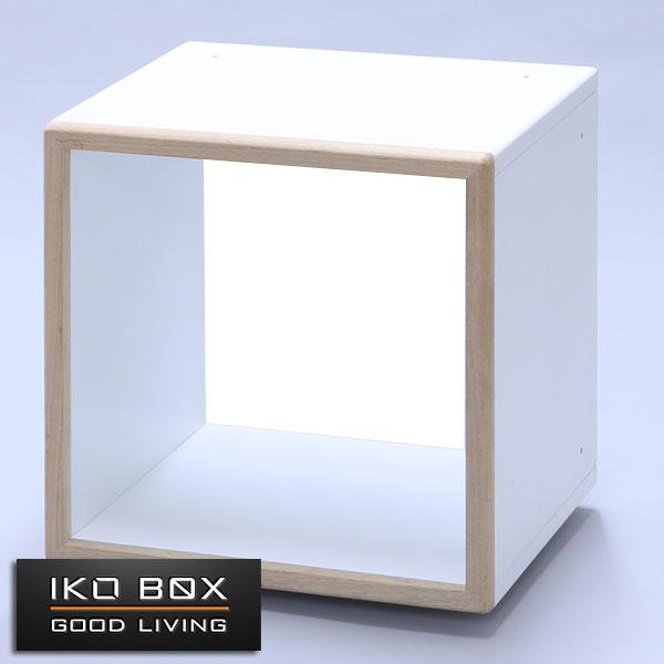 レコード収納 IKO-BOX 1M (本体+木目フレーム) 【4個セット】 【送料無料】