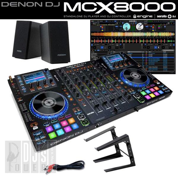 DENON DJ MCX8000 デジタルDJスタートセットC 【台数限定!今ならUSBメモリ16GB×2本と専用キャリングケース MAGMA CTRL-CASE をプレゼント!】
