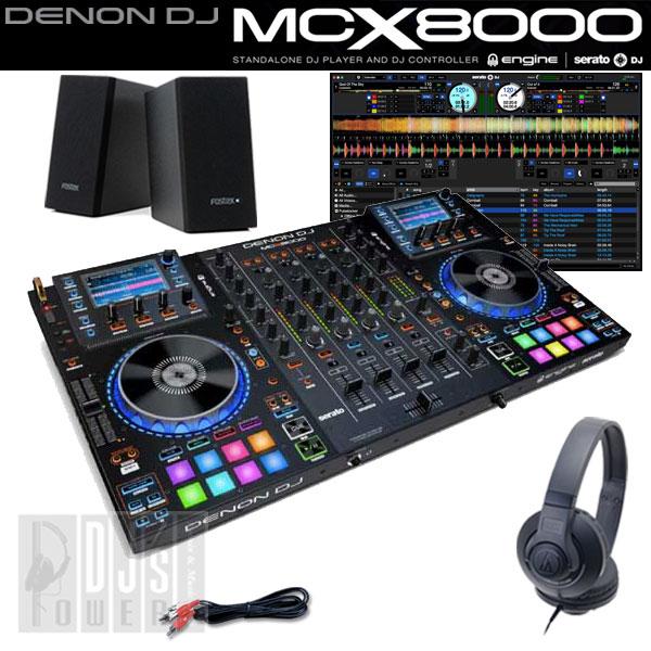 DENON DJ MCX8000 デジタルDJスタートセットB 【台数限定!今ならUSBメモリ16GB×2本と専用キャリングケース MAGMA CTRL-CASE をプレゼント!】