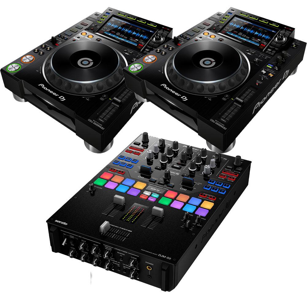 限定モデル 最高峰マルチDJプレイヤーとDJミキサーのセット Pioneer DJ 買収 パイオニア CDJ-2000NXS2+DJM-S9 ikbp1 EXFORM製 RCAケーブルプレゼント