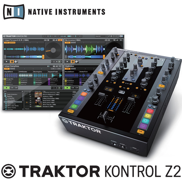 TRAKTOR付きDJミキサー 【DMC JAPAN DJ CHANPIONSHIP 4タイトル プレゼント中!】 Native Instruments TRAKTOR KONTROL Z2 【P10】