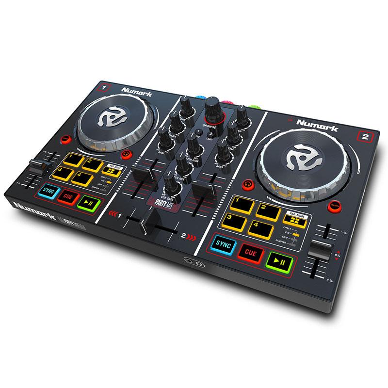 LEDライト内蔵 省スペースサイズのパーティDJ用コントローラー 至上 Numark Party Mix Serato DJ あす楽対応 日 発送対応 Lite対応 定番キャンバス 祝 土