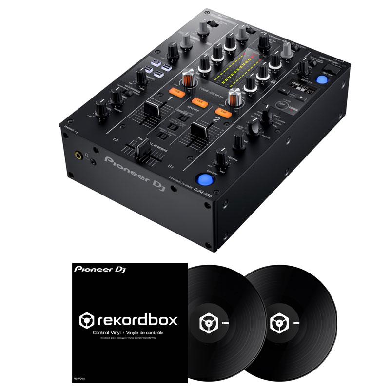 【選べる特典プレゼント!】 Pioneer DJ DJM-450 + コントロールヴァイナル RB-VD1-K DVS SET