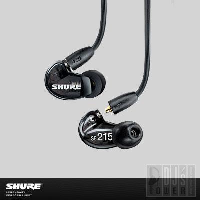 SHURE (シュア) SE215-K 【トランスルーセントブラック】 【国内正規品・2年間保証】【送料無料!】【P10】