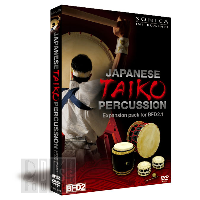 SONICA Japanese Taiko Percussion Expansion Pack for BFD2.1 【BFD2 専用拡張音源】