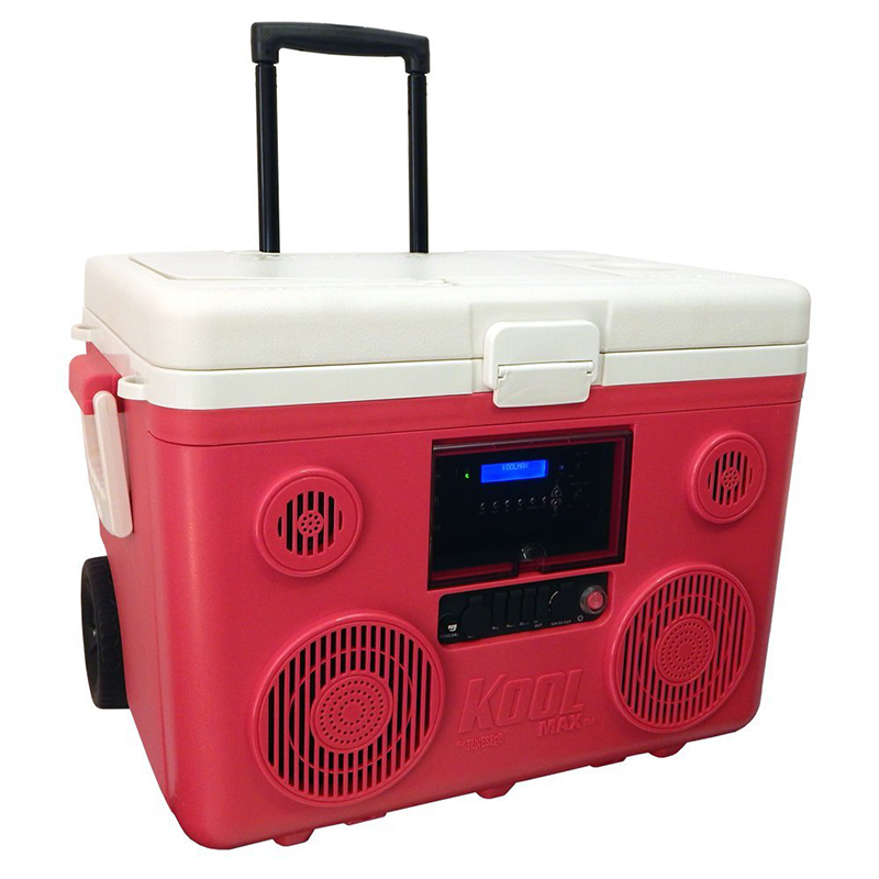 TUNES2GO KOOLMAX 【スピーカー搭載多機能クーラーボックス】【正規輸入品日本仕様】(Red)