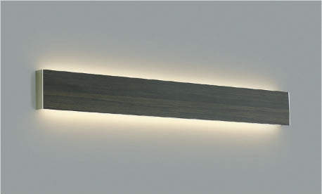 照明 おしゃれコイズミ照明 KOIZUMI 【ブラケットライトAB42542L 木目調・シックブラウン色横幅:1220mm 壁スイッチ配光切替 電球色・FHF32W×2相当】