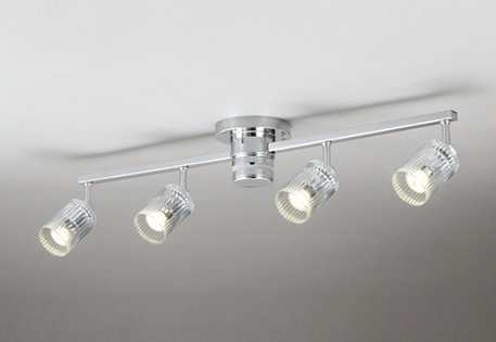 照明 おしゃれ シンプル モダン LEDオーデリック ODELIC 【シャンデリアOC257102 透明リブ入りガラス スポット型多灯照明 灯具:4灯】 注※LEDランプ別売りとなっております。