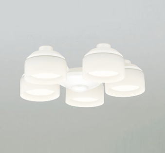 オーデリック ODELIC 【シーリングファン オプション ACモーターファンシリーズWF265LC オフホワイト色灯具[乳白ケシガラス・5灯] 調光・電球色・~6畳】
