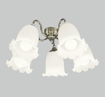 オーデリック ODELIC 【シーリングファンライト オプション ACモーターファンシリーズWF688LC 真鍮ブロンズメッキ灯具[ケシガラスグローブ・5灯] 調光・電球色・~10畳】