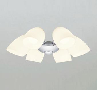 オーデリック ODELIC 【シーリングファンライト オプション ACモーターファンシリーズWF807LC1 マットシルバー色灯具[乳白ケシガラス・6灯] 調光・電球色・~8畳】