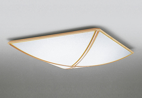 無料プレゼント対象商品!オーデリック ODELIC 【和風 照明 シーリングライトOL251484 ポリエステル強化和紙 緩やかに弧を描く繊細な木枠 調光調色・~ 8畳】 リモコン付属