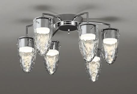 照明 おしゃれ ライトオーデリック ODELIC 【調光調色シャンデリアOC257154BCR 電球色~昼光色鋼(クロームメッキ) ガラス(透明・模様入)簡易取付A Bluetooth対応 ~8畳】 肌を美しく魅せる高演色LEDつららを思わせる透明ガラス