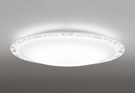 オーデリック ODELIC 【調光調色シーリングライトOL251040BCR 樹脂(マットホワイト色) アクリル(サンドブラスト)高演色LED 電球色~昼光色ツバ付丸形引掛シーリング取付 Bluetooth対応機種~8畳】 ヨーロッパ調のレリーフ模様をフレームに
