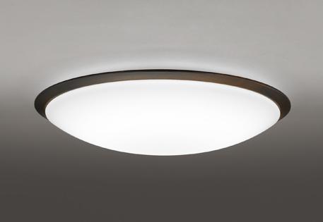 オーデリック ODELIC 【調光調色シーリングライトOL251260R 木材(エボニーブラウン色) 高演色LED 電球色~昼光色ツバ付丸形引掛シーリング取付 リモコン付属~14畳】 グレード感のあるシンプルな木枠デザイン