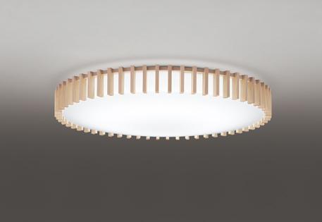 オーデリック ODELIC 【調光調色シーリングライトOL291503BC 木材・アクリル(乳白) 電球色~昼光色ツバ付丸形引掛シーリング取付 Bluetooth対応機種~12畳】 縦格子の整然とした佇まい