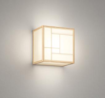 オーデリック ODELIC 【和風 照明 ブラケットライトOB255233LDR 電球色白木 ポリエステル強化和紙上下面:ポリエステル強化和紙 高演色LED白熱灯60W相当】