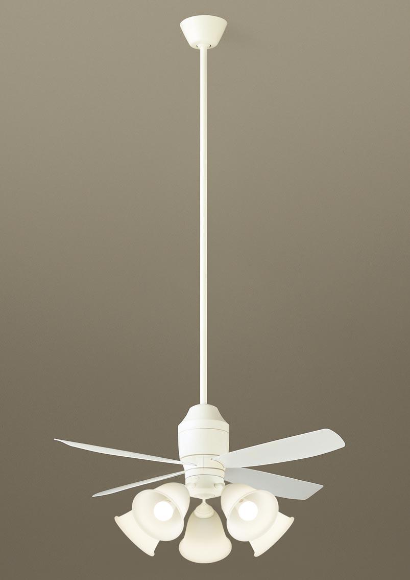 照明 ライト 天井照明 おしゃれ パナソニック Panasonic 【シーリングファンXS70540K 【プラスチック本体】ホワイト 【プラスチック羽根】乳白 32度までの傾斜天井に取付可能 白熱電球100形5灯器具相当/~14畳】 ※リモコン付