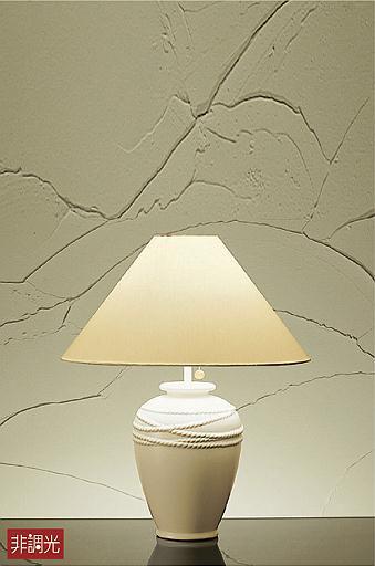 照明 おしゃれ かわいい 屋内大光電機 DAIKO 【卓上スタンドライトDST-39534Y 陶器 白 布 白プルスイッチ付(入切) LED(電球色) 白熱灯60W相当】 アンティーク シンプル モダン