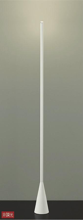 照明 おしゃれ かわいい 屋内大光電機 DAIKO 【スタンドライトDST-40654Y ホワイト差込プラグ 中間スイッチ付(入切) LED(電球色) 白熱灯40W相当】 シンプル モダン