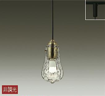 照明 おしゃれ かわいい大光電機 DAIKO ペンダントライトDPN-40008Y テレビで話題 上等 LED電球色 ダクトレール用ガラス 白熱灯60W相当 透明石目模様