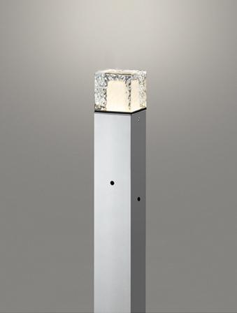 無料プレゼント対象商品!エクステリア 屋外 照明 ライトオーデリック(ODELIC) 【ポールライト OG254878LD 明暗センサー マットシルバー 電球色】  地上高700 ポールライト ガーデンライト LED