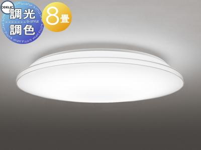 照明 おしゃれ ライトオーデリック ODELIC 【シーリングライトOL251511P1 電球色~昼光色透明モール カジュアルなモールデザイン 調光・調色タイプ・~ 8畳】