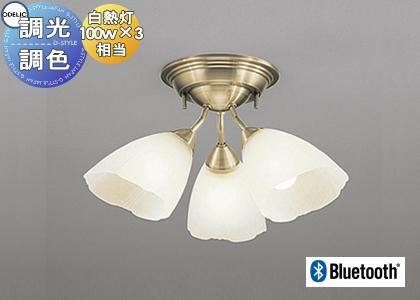 照明 おしゃれ シンプル モダン LEDオーデリック ODELIC 【シャンデリアOC006506BC1 電球色~昼光色クラシカルでエレガントな佇まい 青tooth対応機種 調光調色・白熱灯100W×3灯相当】