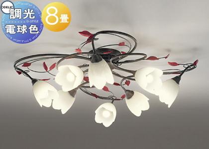 照明 おしゃれ シンプル モダン LEDオーデリック ODELIC 【シャンデリアOC257025LC 電球色フェミニン&シックなフローラルスタイル 調光・~8畳】
