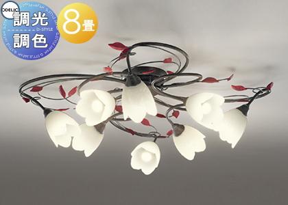 照明 おしゃれ お気に入 シンプル モダン LEDオーデリック ~8畳 シャンデリアOC257025PC 調光調色 ODELIC NEW 電球色~昼光色フェミニンシックなフローラルスタイル
