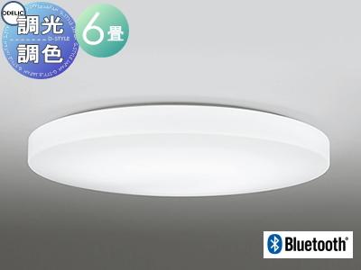 照明 おしゃれ ライトオーデリック ODELIC 【シーリングライトOL251219BC1 電球色~昼光色スマートなプレーンデザイン Bluetooth対応機種 調光・調色タイプ・~ 6畳】
