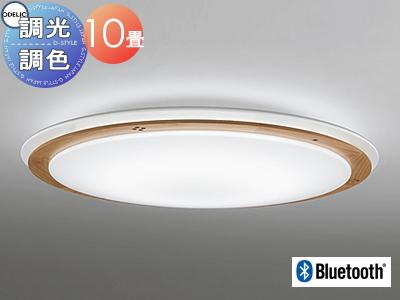 照明 おしゃれ ライトオーデリック ODELIC 【シーリングライトOL251285BC 電球色~昼光色木枠と白枠の優しいノルディックナチュラル Bluetooth対応機種 調光・調色タイプ・~ 10畳】