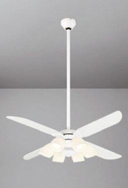 照明 おしゃれオーデリック ODELIC シーリングファンライト ACモーターファン 4枚羽根 モダンWF801P1 定価 器具本体WF979 延長パイプ 2020 オフホワイト調光 ~8畳 灯具 WF805PC1 傾斜天井対応北欧モダン 光色切替 電球色+昼白色 長さ:90cm 6灯