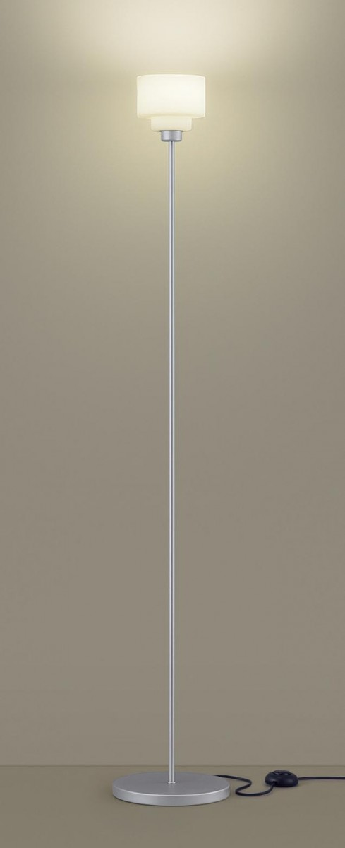 パナソニック 正規逆輸入品 Panasonic フロアスタンドライトSF965SZ 電球色シルバーメタリック 正規品 フットスイッチ付 幅広い使い方ができるスタンド コード3m付演出に 読書に 25形電球1灯器具相当