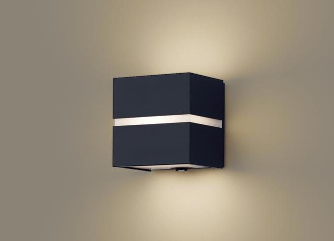 エクステリア 屋外 照明 ライト パナソニック(Panasonic) 【 ポーチライト LGWC80365 LE1 オフブラック 電球色人感センサー付 白熱電球40形1灯器具相当】 FreePaお出迎え LED 防雨形 ブラケットライト ポーチライト 玄関灯 門柱灯