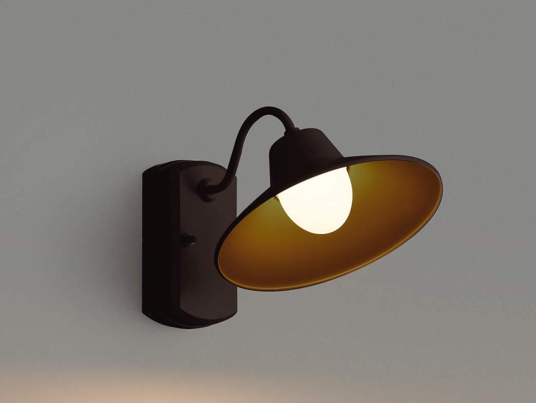 エクステリア 屋外 照明 ライト【三協アルミ】 照明器具 ポーチライト【 PD41型 ダークブロンズ 上面遮光】