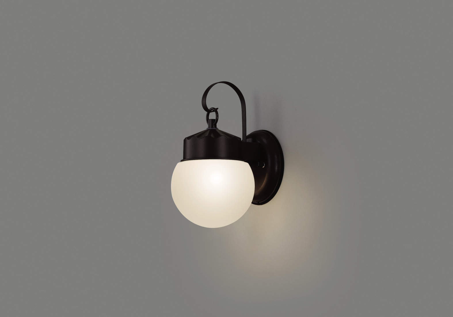 エクステリア 屋外 照明 ライト【三協アルミ】 照明器具 ポーチライト【 PD42型 ブラウン 上面遮光】