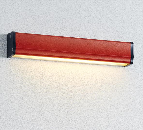 ユニソン(unison)エクステリア 屋外 照明 ライト 12V照明 表札灯 【エコルトウォールライト クーゼ 横幅250mmサイズ レザーレッド EA0700792】 エコルトウォールライト