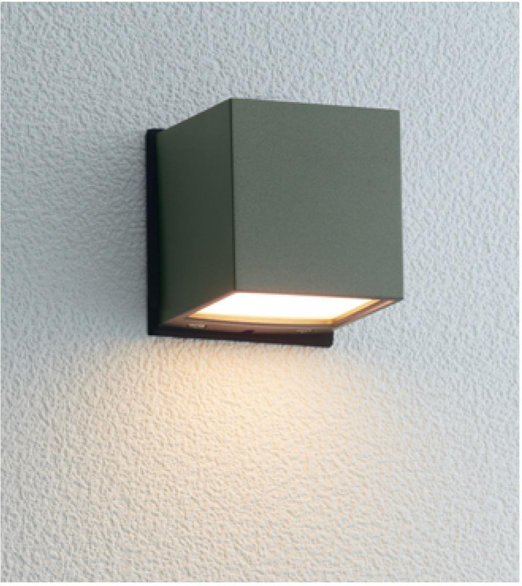 ユニソン(unison)エクステリア 屋外 照明 ライト 12V照明 表札灯 【エコルトウォールライト キューブライト アイビーグレー EA0101722】 エコルトウォールライト