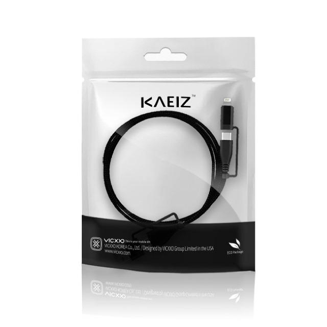 VICXXO(ヴィクソ)KAEIZK4CtoCATypeLightning4in1マルチケーブル120cmライトニングケーブルタイプCUSBタイプCUSBケーブルタイプA