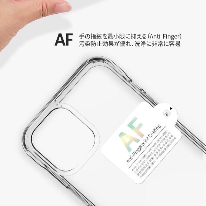 iPhone12クリスタルケースクリアケースAntiFingerコーティング衝撃吸収音響増幅機能VICXXOLevictoughcase