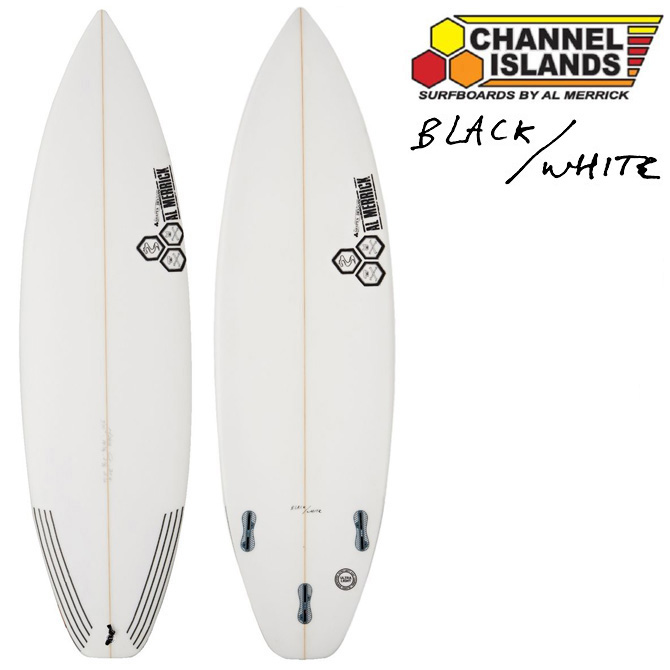 チャンネルアイランド アルメリック サーフボード ブラック&ホワイトモデル / ChannelIsland Almerrick SurfBoards The Black and White Model【返品・交換不可】