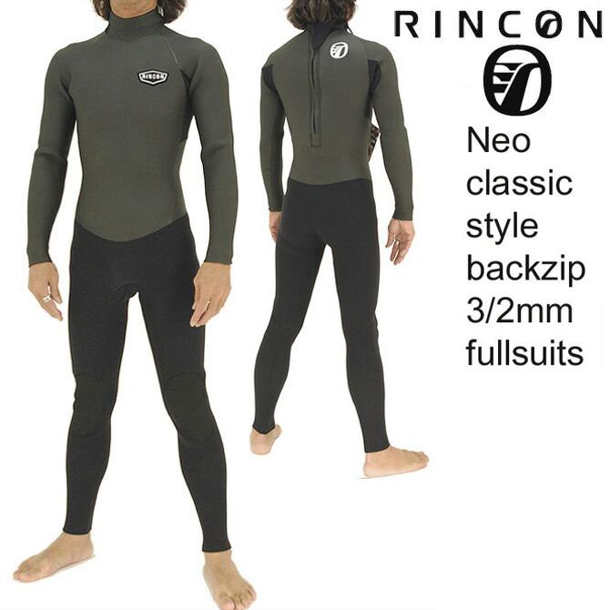 【WEB限定】RinconWetSuit 3/2mmFullSuits Limited BackZipModel / リンコンウェットスーツ 3/2mmフルスーツ リミテッド バックジップモデル 【返品・交換不可】