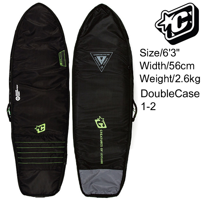Creatures Of Leisure SurfBoards HardCase Double Boardcovers 6'3