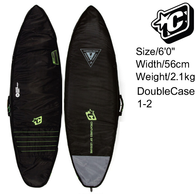 Creatures Of Leisure SurfBoards HardCase Double Boardcovers 6'0